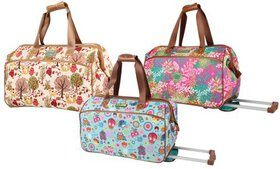 Lily Bloom Wheeled Duffel Carry-On Luggage