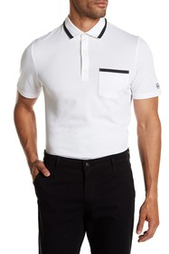 AG Contrast Knit Pocket Polo
