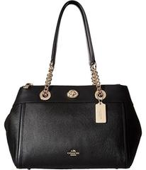 COACH Polished Pebble Turnlock Edie Carryall