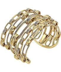 Michael Kors Iconic Link Pave Open Cuff Statement