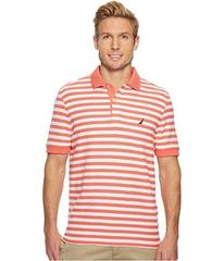 Nautica Short Sleeve Stripe Classic Deck Polo