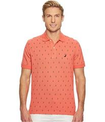 Nautica Short Sleeve Printed Deck Polo