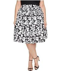 Unique Vintage Plus Size High Waist Swing Skirt