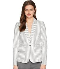 Tahari by ASL One-Button Striped Jacket