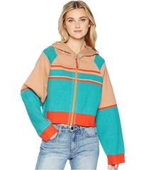 Free People Stripes for Days Zip-Up