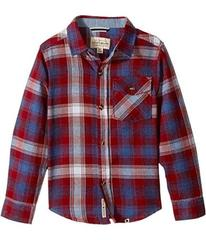 Lucky Brand Kids Long Sleeve Plaid Shirt Chambray