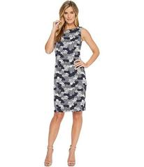 Ivanka Trump Jacquard Knit Sleeveless Sheath Dress