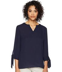 Tahari by ASL Blouse with Tie Sleeves