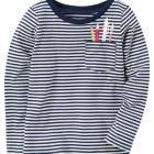 Striped Pencil Pocket Tee