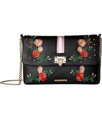 Rampage Embroidered Crossbody with Webbing Detail