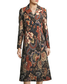 Stella McCartney Vivienne Floral Brocade Dress Coa