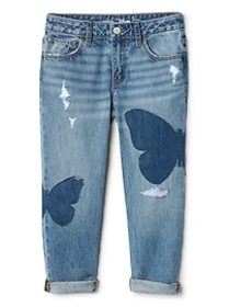 Gap for Good Girlfriend Jeans with Butterfly Inset