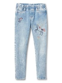 Superdenim Embroidered Favorite Jeggings with Fant