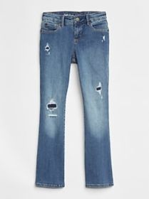Rip & Repair Boot Jeans with High Stretch