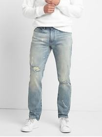 Cone Denim&#174 Destructed Jeans in Slim Fit with