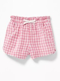 Linen-Blend Elasticized-Waist Shorts for Toddler G