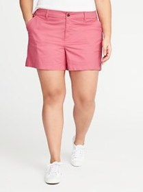 Mid-Rise Plus-Size Everyday Twill Shorts (5\