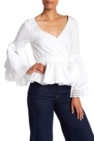 Rebecca Minkoff Melly Eyelet Lace Bell Sleeve Top