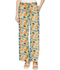 Tahari by ASL Printed Satin Tie Waist Wide Leg Pan