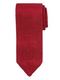 Solid Silk Knit Pointed Tie
