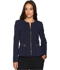 Tahari by ASL Peplum Zip Front Jacket
