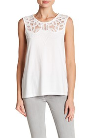French Connection Ekon Embellished Lace Top
