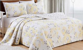 Helene Collection Floral-Printed Quilt with Shams