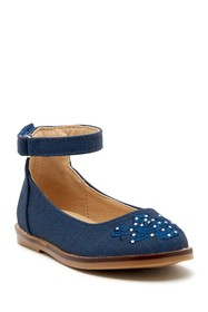 Nicole Miller Embroidered Ankle Strap Dress Shoe (
