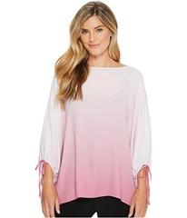 Vince Camuto Long Sleeve Ombre Echo Tie Cuff Blous