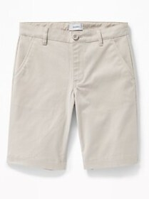 Built-In Flex Twill Straight Uniform Shorts for Bo