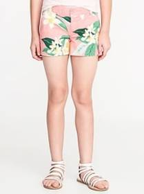 Floral-Print Chino Shorts for Girls