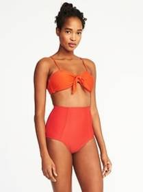 Knotted-Tie Swim Top for Women