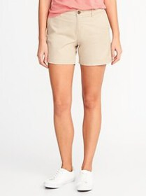 Mid-Rise Everyday Twill Shorts for Women (5\