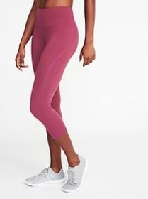 High-Rise Elevate Side-Mesh Compression Crops for