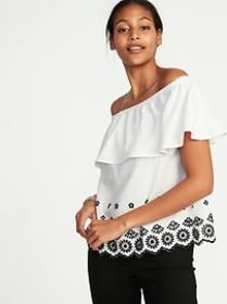 Off-the-Shoulder Ruffled Top for Women
