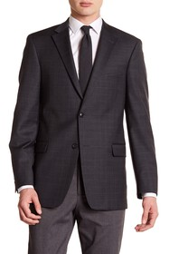 Tommy Hilfiger Grey Windowpane Two Button Notch La
