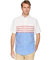 CHAPS Short Sleeve Color Blocked Woven Shirt