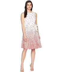 Anne Klein Scattered Dot Cotton Fit and Flare Dres