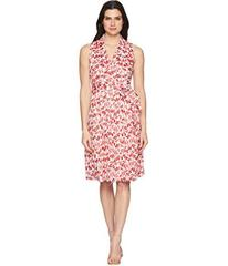 Anne Klein Floral Cotton Fit and Flare Dress
