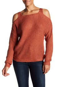 Simply Couture Cold Shoulder Sweater