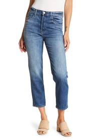 J Brand Wynne High Rise Crop Straight Jeans
