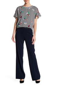 Badgley Mischka Side Zip Flared Pants