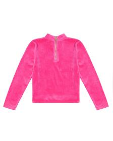 Juicy Couture Velour Stone Embellished Mock Neck T