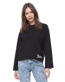 Juicy Couture Mini Gothic Logo Split Sleeve Sweate