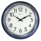 Lapiz Blue Wall Clock