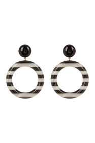 Marc Jacobs Large Striped Front Facing Hoop Earrin