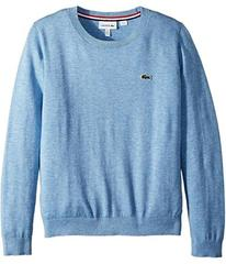 Lacoste Kids Classic Jersey Crew Neck Sweater (Tod