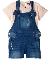 7 For All Mankind Kids Tee and Overall Set (Toddle