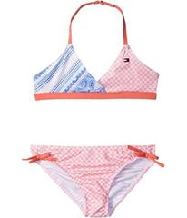 Tommy Hilfiger Kids Pattern Mix Two-Piece Swimsuit