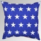 Outdoor Throw Pillow - Reversible Red Stripe/Blue
